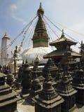 swayambhunath stupa kathmandu Непала Стоковое Изображение