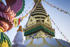 Swayambhunath Stupa IN KATHMANDU Royalty Free Stock Photos