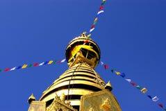 Swayambhunath Stupa, Kathmandu, Nepal Arkivfoto
