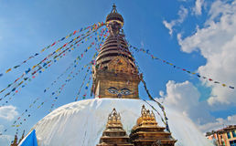 The Swayambhunath stupa, Kathmandu, Nepal Royalty Free Stock Photography