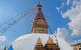 The Swayambhunath stupa, Kathmandu, Nepal Royalty Free Stock Photography