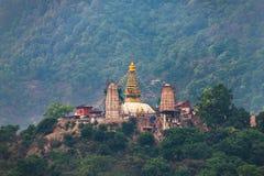 Swayambhunath Stupa IN KATMANDU Stock Foto's