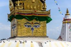 Swayambhunath Stupa IN KATMANDU Stock Afbeelding