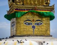 Swayambhunath Stupa IN KATMANDU Royalty-vrije Stock Afbeelding