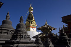 Swayambhunath stupa monkey temple Stock Photography
