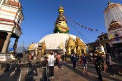 Swayambhunath Stupa, Nepal Immagine Stock Libera da Diritti