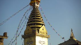 Swayambhunath Stupa - o stupa o mais santamente do vajrayana do buddhism tibetano Kathmandu, Nepal video estoque