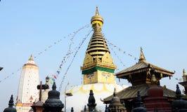 Swayambhunath Stupa religious complex or Monkey temple,Kathmandu Royalty Free Stock Images