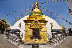Swayambhunath Stupa taken in the capital of Nepal Royalty Free Stock Photography