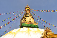 Swayambhunath Stupa taken in the capital of Nepal Stock Photo