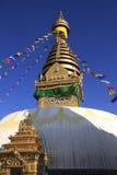 Swayambhunath tempel Kathmandu Valley, Nepal Fotografering för Bildbyråer