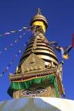 Swayambhunath tempel Kathmandu Valley, Nepal Royaltyfria Bilder