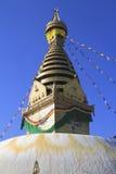 Swayambhunath tempel Kathmandu Valley, Nepal Arkivbilder