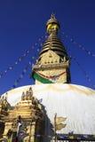 Swayambhunath tempel Kathmandu Valley, Nepal Arkivfoto
