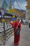 Swayambhunath Tempel in Nepal Lizenzfreie Stockbilder