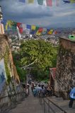 Swayambhunath temple in Kathmandu, Nepal Royalty Free Stock Photos