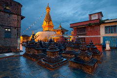 Swayambhunath Temple in Kathmandu of Nepal Stock Photography
