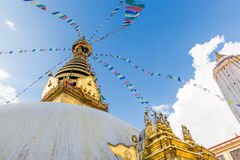 Swayambhunath temple, Monkey Temple Kathmandu, Nepal. Stock Photos