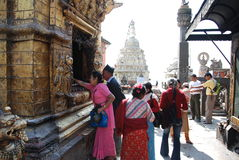 Swayambhunath temple in Nepal Stock Images