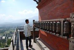 Swayambhunath temple in Nepal Royalty Free Stock Photos