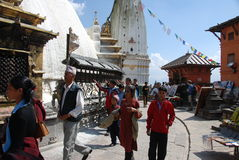 Swayambhunath temple in Nepal Stock Images