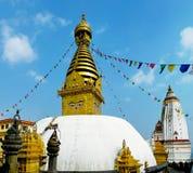 Swayambhunath - templo budista antiguo en Katmandu, Nepal Fotografía de archivo