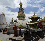 Swayambhunath u. x28; Affe Temple& x29; , Kathmandu, Nepal Stockbild