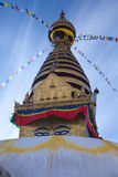 Swayambhunathstupa, Katmandu, Nepal Stock Afbeeldingen