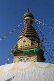 Swayambunath Stupa in Kathamandu, Nepal Fotografia Stock