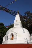 Swayambunath white little stupa Royalty Free Stock Images