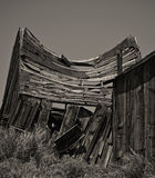 Swayback Shack. This is an broken down shack from Bodie, California, a ghost town and state park Royalty Free Stock Photo