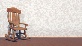 Swaying rocking-chair - 3D render stock footage