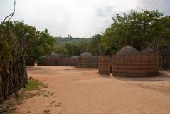 Swazi dorp Stock Foto