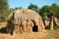 Swazi dorp, Swasiland Stock Afbeelding
