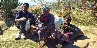 Swazi ludzie, Hhenga góry, Swaziland zdjęcie royalty free