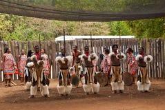 Swazi strijders Royalty-vrije Stock Foto's