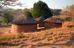 Swazi village, Swaziland Stock Photography