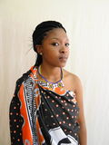 Swazi Woman. Half cut posing potrait Royalty Free Stock Image