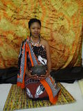 Swazi Woman. Posing with calabash Stock Images