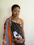 Swazidame Stockfotografie