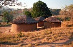 Swaziländsk by, Swaziland Arkivbild