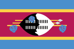 Swaziland flag Stock Photography