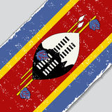 Swaziland grunge flag. Vector illustration. Royalty Free Stock Photography