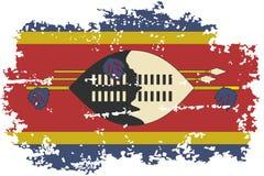 Swaziland grunge flag. Vector illustration. Stock Photo