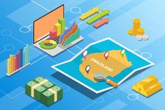 Swaziland isometric financial economy condition concept for describe country growth expand - vector. Illustration vector illustration