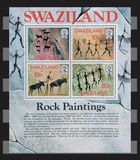Swaziland Rock Paintings stamps. Royalty Free Stock Photography
