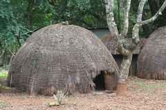 Swaziland traditional hut Royalty Free Stock Photography
