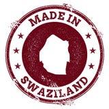 Swaziland vektorskyddsremsa royaltyfri illustrationer