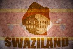 Swaziland vintage map Royalty Free Stock Photos