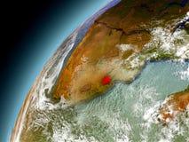 Swazilandia de la órbita de Earth modelo Imagen de archivo